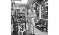 John Cole 1969 fashion shoot in Camden Passage, London